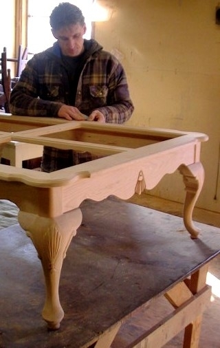 Carved georgian table by McAskill Woodworking