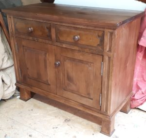 Quebec pine cupboard reproduction