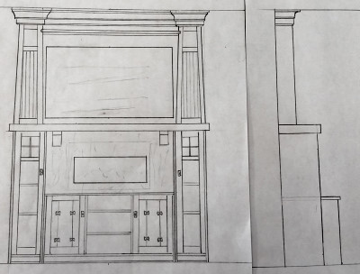 sketch arts and crafts cabinets
