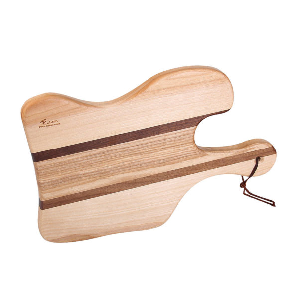 "cutting board lunar design with various woods. size: 12.25"" long x 8.25"" wide x 0.75"" thick"