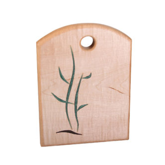 """cutting board twig design filled with epoxy, made with various woods. size: 8"""" long x 6.5"""" wide x 0.75"""" thick"""