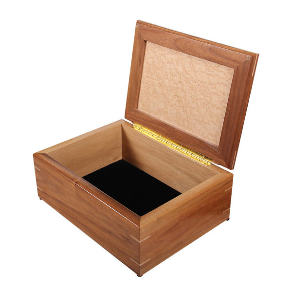 Handcrafted wooden jewelry box.