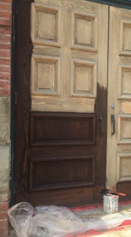 Refinishing City Hall Doors